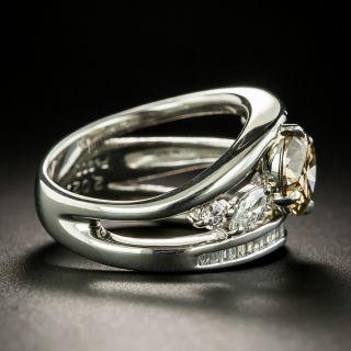 2.02 Carat Oval Fancy Dark Yellowish Brown Diamond Ring - GIA SI1