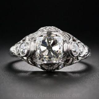 2.02 Carat Vintage Diamond Engagement Ring - 1
