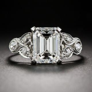 2.03 Carat Emerald Cut Diamond Art Deco Ring GIA G/VS1 - 1