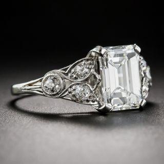 2.03 Carat Emerald Cut Diamond Art Deco Ring GIA G/VS1