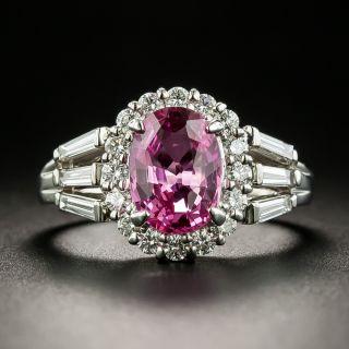 2.04 Carat Pink Sapphire and Diamond Ring - 1