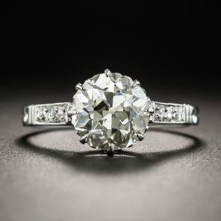 2.07 Carat Art Deco Diamond Ring GIA M SI1 - 1