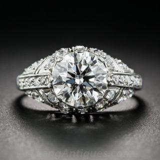 2.08 Carat Diamond Art Deco Style Ring - GIA - 1