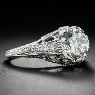2.09 Carat Diamond Platinum Edwardian Ring GIA J/SI1