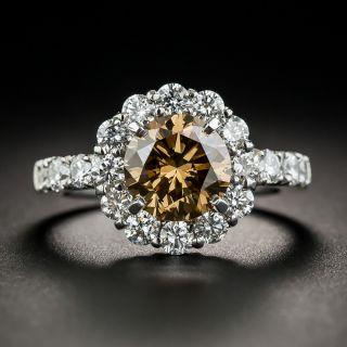 2.10 Natural Fancy Dark Yellowish Brown Diamond  Ring - GIA - 1
