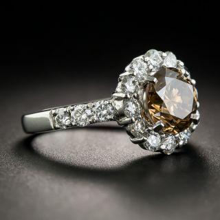 2.10 Natural Fancy Dark Yellowish Brown Diamond  Ring - GIA