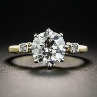 2.12 Carat Diamond Solitaire Engagement Ring - GIA I VVS2   - 1