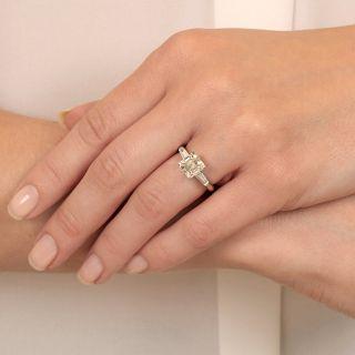 2.15 Carat Emerald Cut Diamond Ring - GIA L VVS2