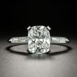 2.19 Carat Cushion-Cut Diamond Engagement Ring - GIA F VVS 2 - 2