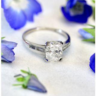 2.19 Carat Cushion-Cut Diamond Engagement Ring - GIA F VVS 2