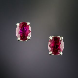 2.20 Carat Total Weight Ruby Stud Earrings - 1