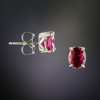 2.20 Carat Burmese Ruby Stud Earrings
