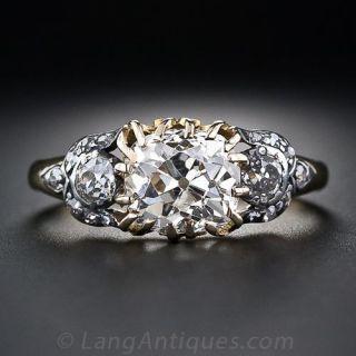 2.25  Carat Antique Cushion-Cut Diamond Ring