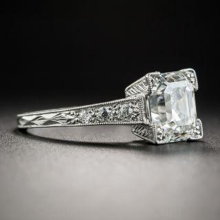 2.31 Carat Asscher-Cut Platinum Diamond Ring - GIA G VS1