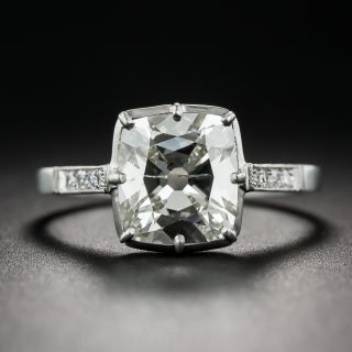 2.32 Carat Antique Cushion-Cut Diamond Vintage Style Ring - 1