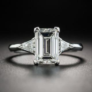 2.34 Carat Emerald-Cut Diamond Platinum Engagement Ring - GIA H VVS2