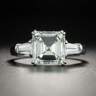 2.38 Carat Square Emerald Cut Diamond Engagement Ring - GIA J VS1 - 2