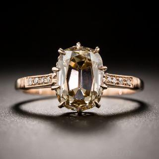 2.39 Carat Fancy Colored Antique Cushion Diamond Ring
