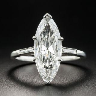 2.40 Carat Marquise Diamond Ring - GIA G SI2