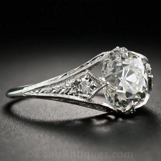 2.42 Carat Vintage Style Diamond Engagement Ring