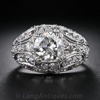 2.43 Carat Center Antique Diamond Ring - 1