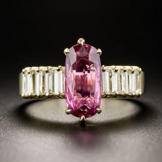 2.43 Carats Natural No-Heat Pink Sapphire and Diamond Ring