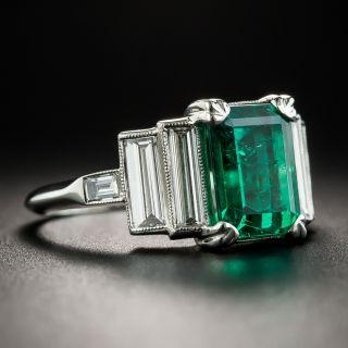2.49 Carat Emerald Platinum Diamond Ring