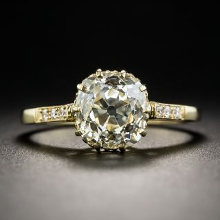 2.53 Carat Antique Cushion-Cut Diamond Engagement Ring - GIA L VS1 - 1