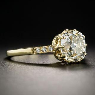 2.53 Carat Antique Cushion-Cut Diamond Engagement Ring - GIA L VS1