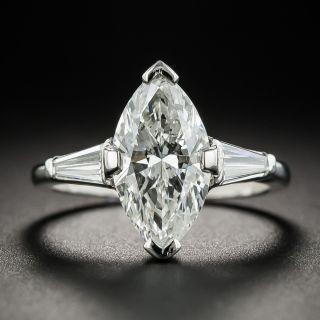 2.55 Carat Marquise Diamond Platinum Engagement Ring - GIA J I1 - 1