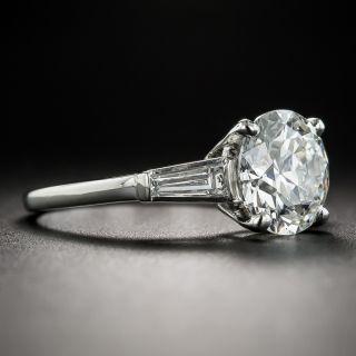 Mid-Century 2.58 Carat European-Cut Diamond Solitaire Ring  - GIA H VS1