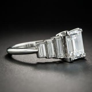 2.60 Carat Rectangular Step-Cut Diamond Ring - GIA F VS2