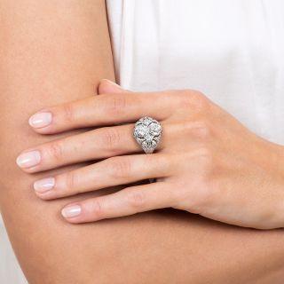 2.65 Carat 'Toi et Moi' Edwardian Twin Diamond Ring