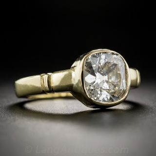 2.75 Carat Cushion-Cut Diamond Ring