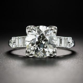 2.75 Carat Diamond Art Deco Engagement Ring - GIA L VS1 - 2
