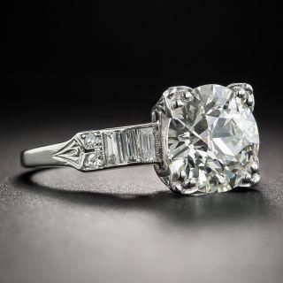 2.75 Carat Diamond Art Deco Engagement Ring - GIA L VS1