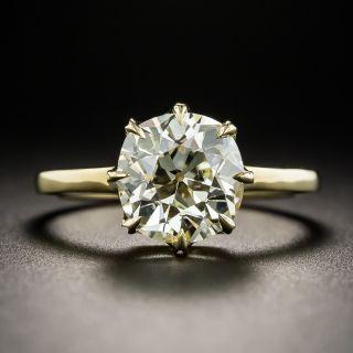 2.87 Carat Antique Cushion-Cut Diamond Engagement Ring - GIA O-P SI2 - 1