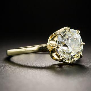 2.87 Carat Antique Cushion-Cut Diamond Engagement Ring - GIA O-P SI2