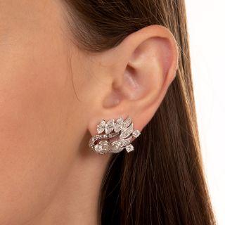 Mid-Century Diamond Earrings
