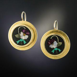 Victorian Pietra Dura Earrings - 1