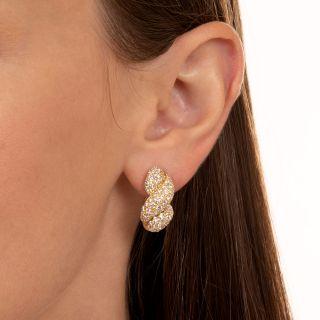 French French Twist Diamond Earrings