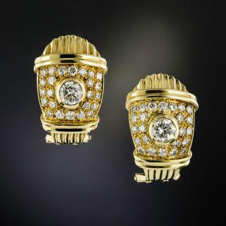 Estate Diamond Earrings - 1