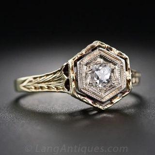 .22 Carat Art Deco Diamond Solitaire