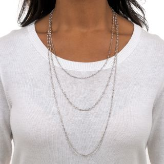 Long Diamonds-By-The-Yard Necklace - 23.00 Carat Total