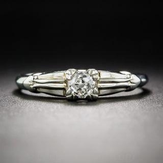 .25 Carat Diamond Art Dco Solitaire Engagement Ring