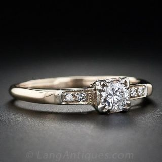 .25 ct. Two-Tone Gold Illusion Diamond Engagement Ring