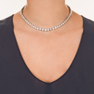 27 Carat Diamond Riviere Necklace/Bracelets Combo