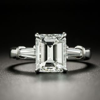 3.00 Carat Emerald-Cut Diamond Engagement Ring - GIA F SI1 - 1