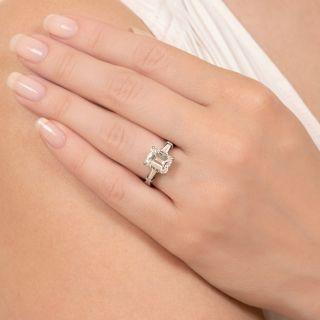 3.00 Carat Emerald-Cut Diamond Engagement Ring - GIA F SI1