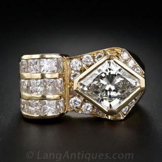 3.00 Carat Lozenge-Shaped Diamond Ring